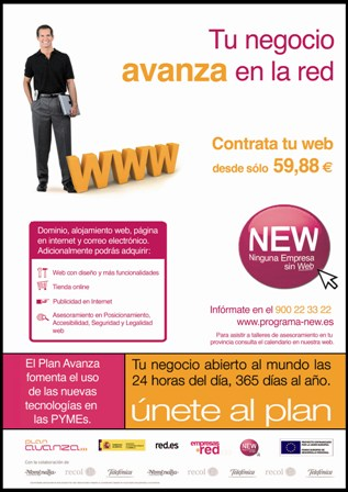 Programa NEW red.es Ninguna Empresa sin Web