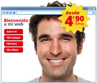 "Crea tu página web con ""Inventa tu web"" de Hostalia"