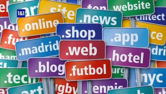 1and1 nuevos dominios Internet