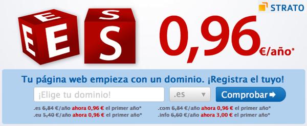 Oferta dominios STRATO