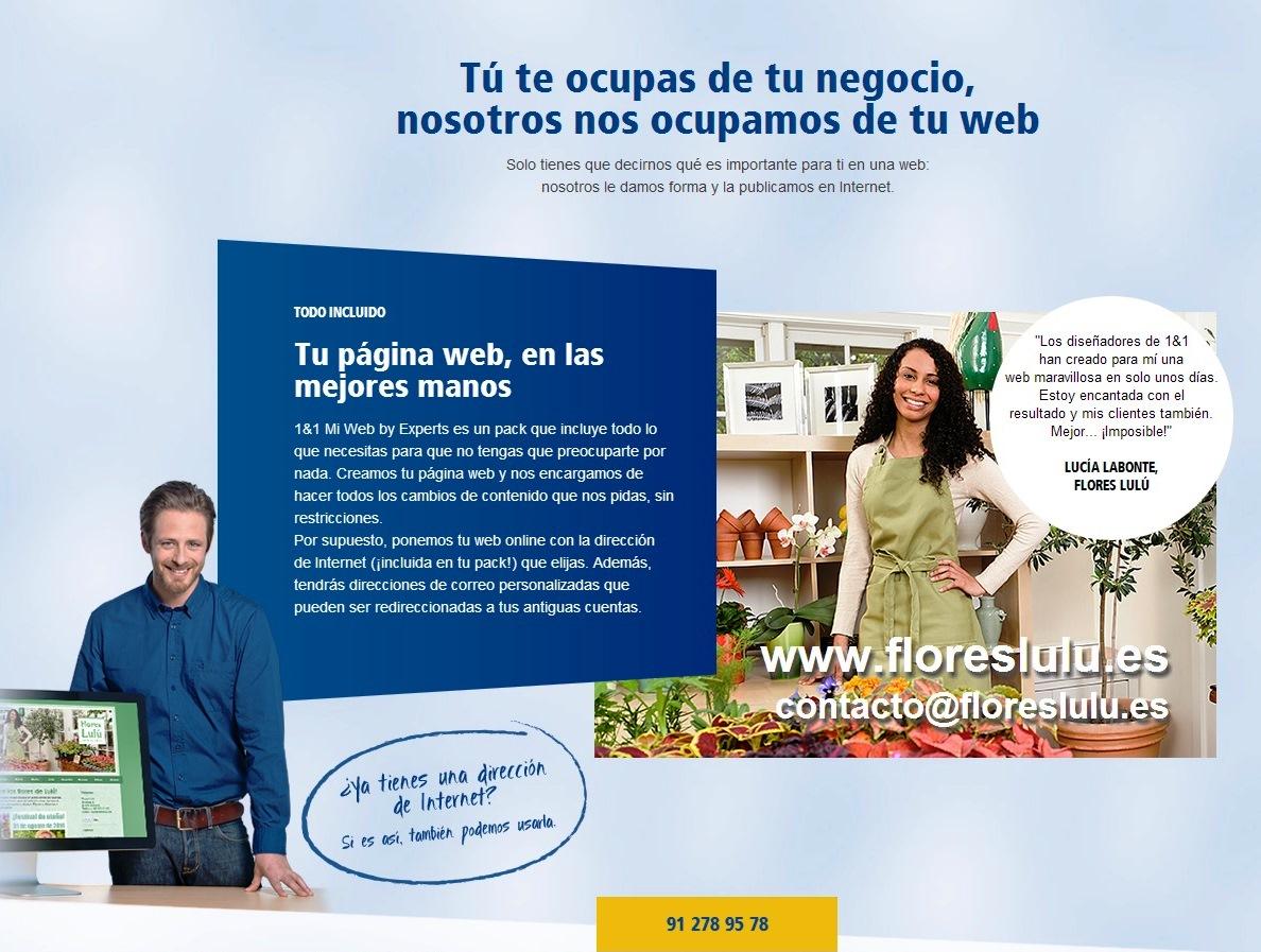 1&1 Internet España lanza 1&1 Mi Web by Experts para ayudarte a crer tu web