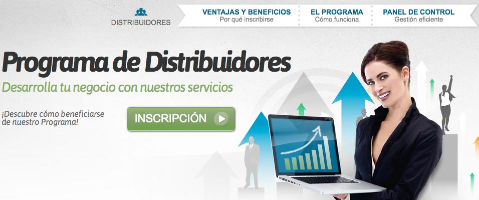 Nominalia programa de Dsitribución de productos de hosting y dominios