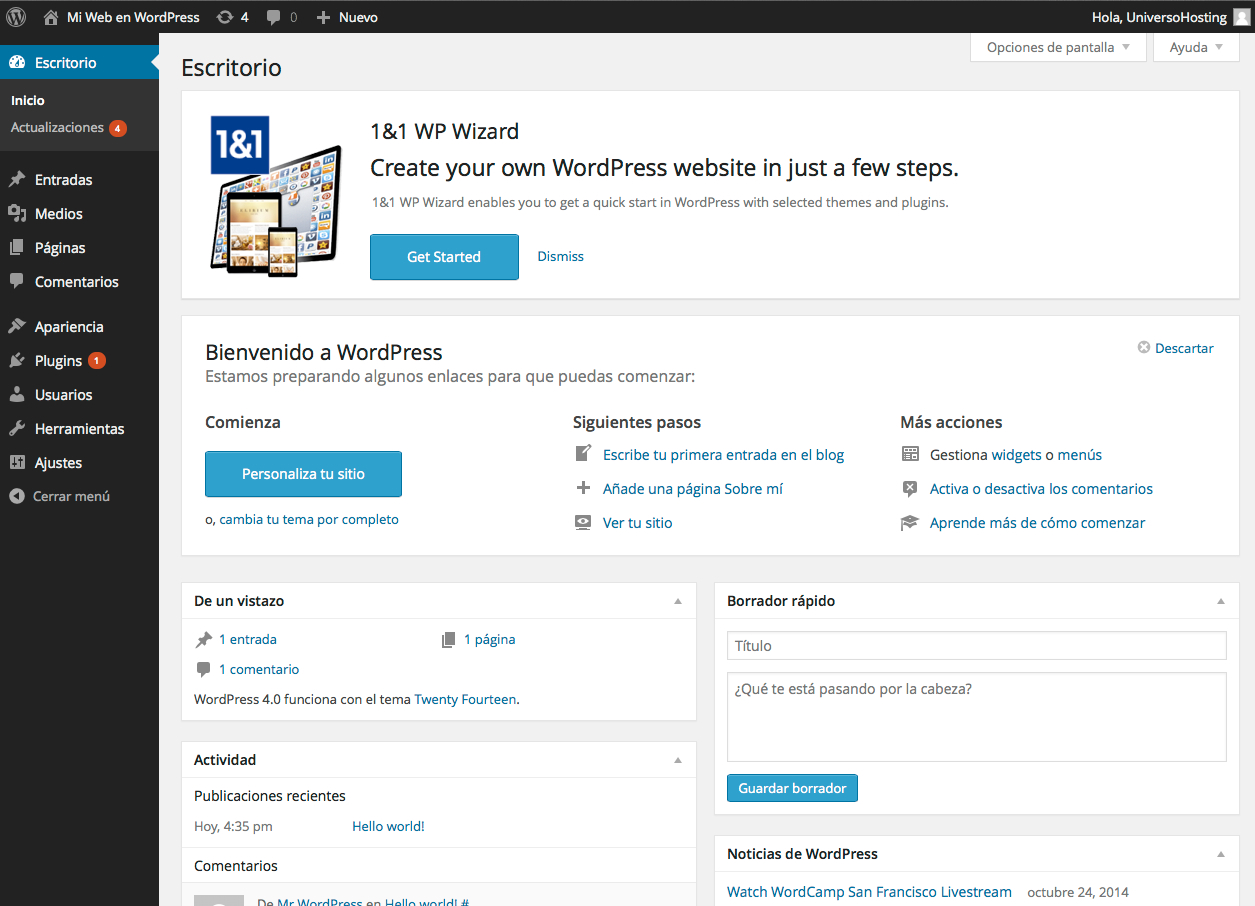 1&1-WordPress-hosting-wizard