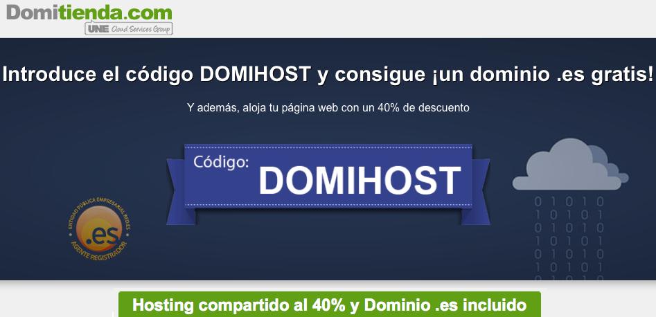 Hosting Domitienda promo noviembre