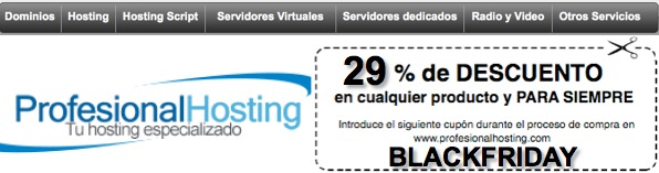 Oferta Hosting BlackFriday Profesional Hosting