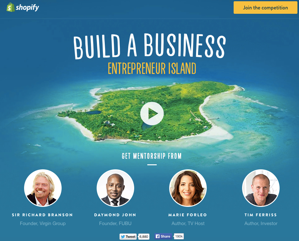Shopify build business