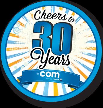 30 cumpleaños dominios .COM - verisign