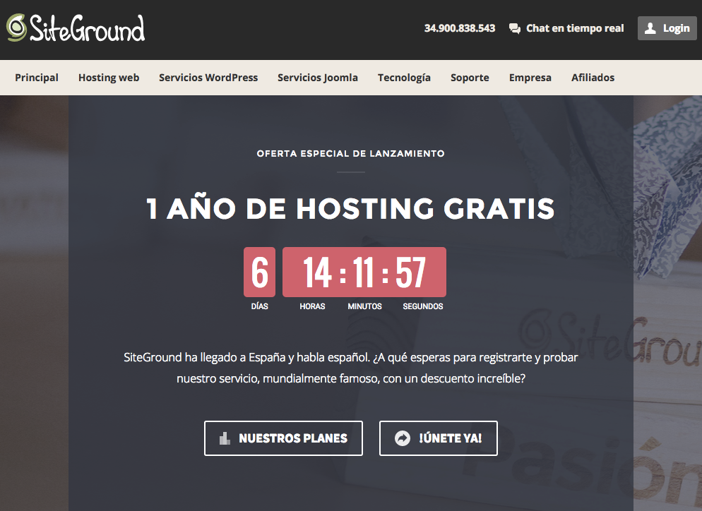 SiteGround España Hosting