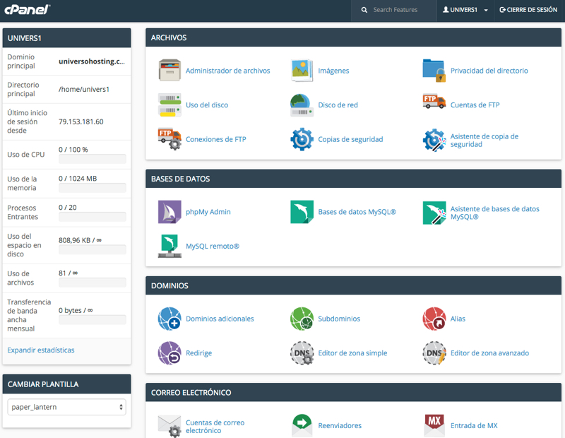 Merkaweb panel control hosting cPanel