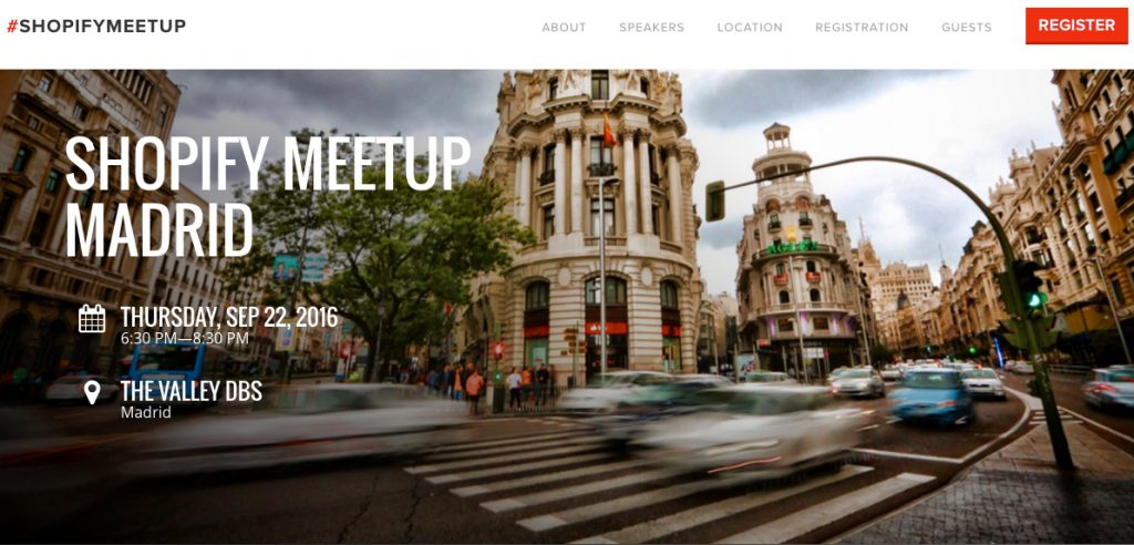 Meetup Shopify Madrid
